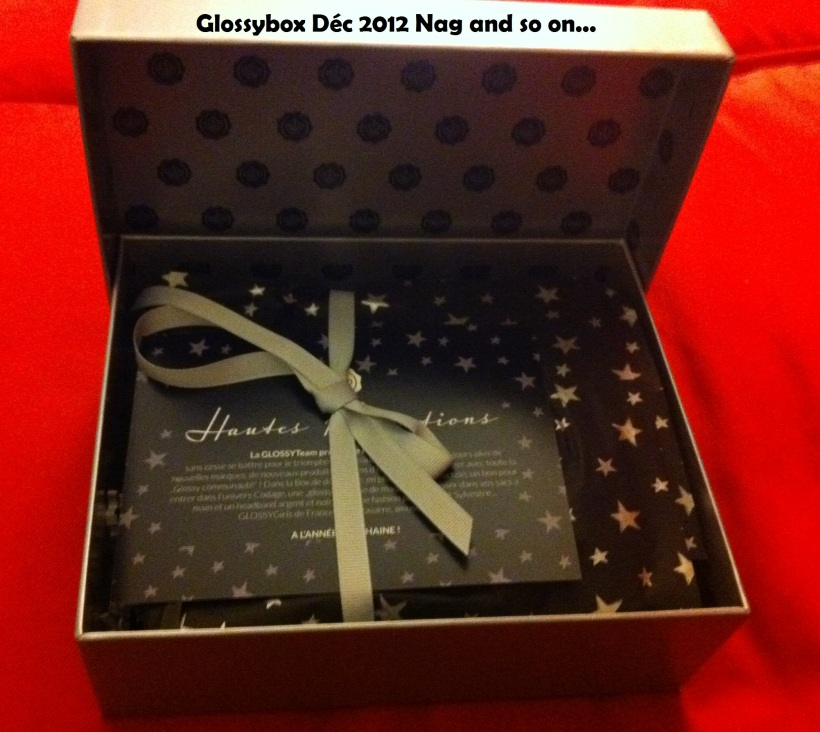 Glossybox décembre 2012
